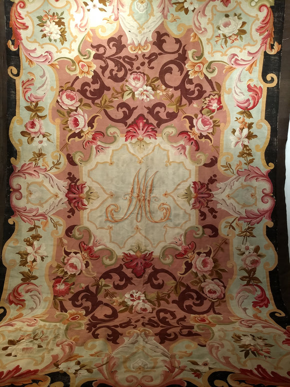 Antique French Aubusson Area Rug