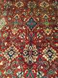 Vintage Persian Mahal Sultanabad Room Size Rug