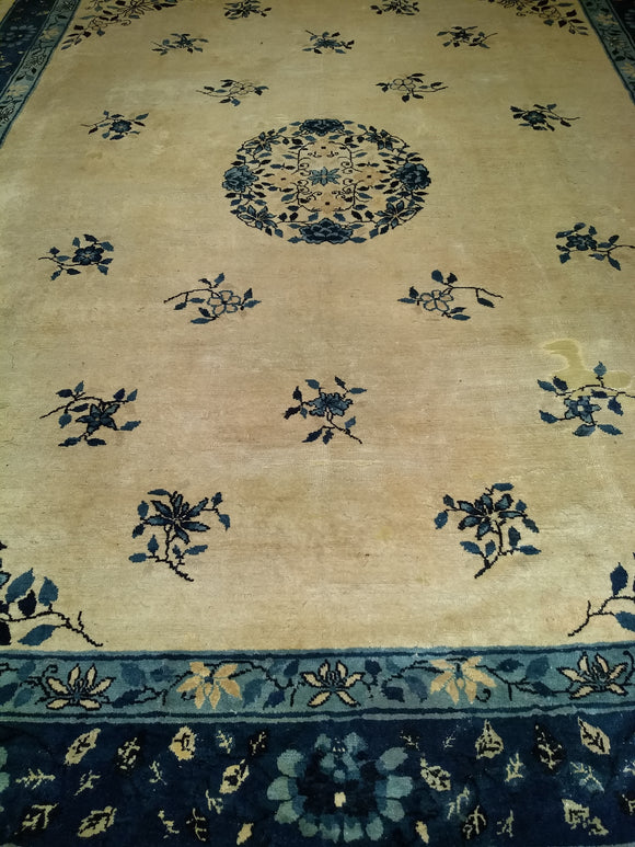 Antique Chinese Peking Room Size Rug