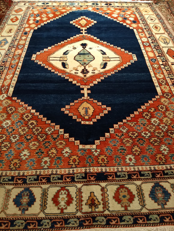Antique Serapi Design Room Size Rug