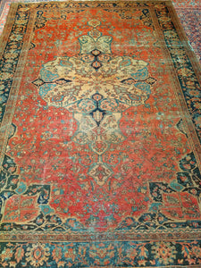 Antique Persian Farahan Room Size Rug