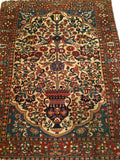 Antique Persian Bakhtiari Garden Rug
