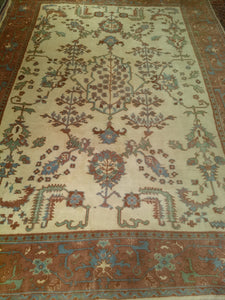 Vintage Turkish Oushak Rug