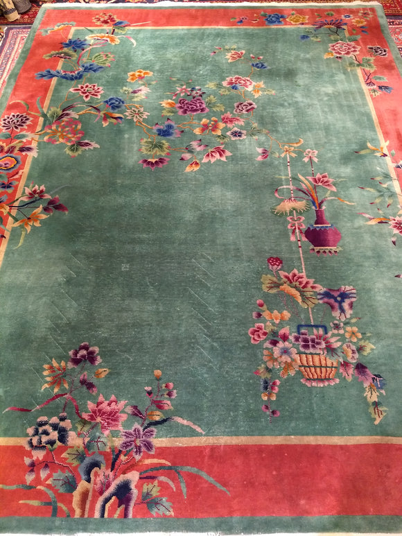 Antique Art Deco Chinese Nichols Room Size Rug