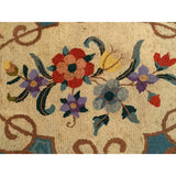 Hooked Rug - Americana Hooked Rugs Scatter Size Rugs (2x3 to 5x8) - Early 1900s America