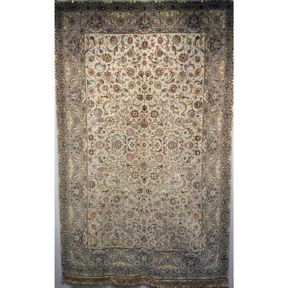 Tabriz Silk - Room Size Rugs (6x9 to 10x14) Scatter Size Rugs (2x3 to 5x8) - 3rd quarter of the 1900s China
