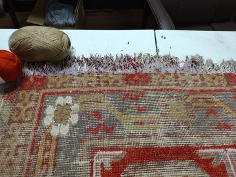 End Repairs to preserve the rug