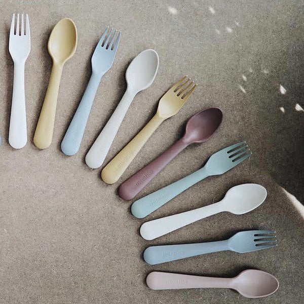 fork and spoon set (blush) 粉紅色刀叉套裝|丹麥製造