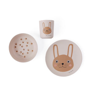 rabbit bamboo tableware set 小兔竹纖維餐具套裝