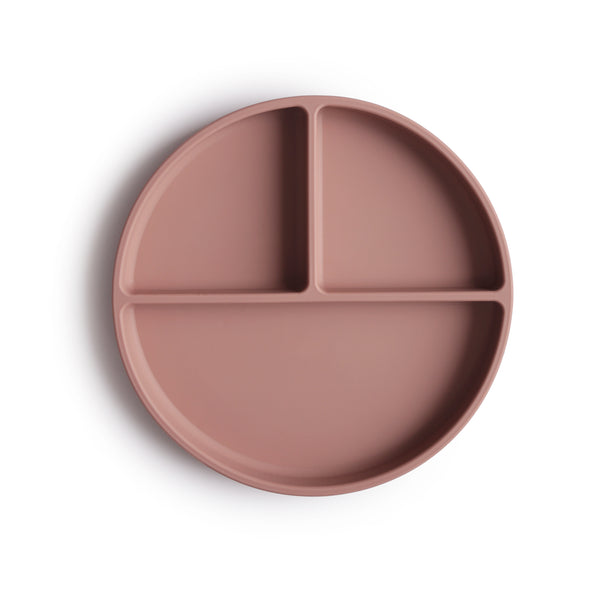 silicone suction plate (cloud mauve)