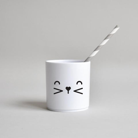 bunny face tumbler - white edition