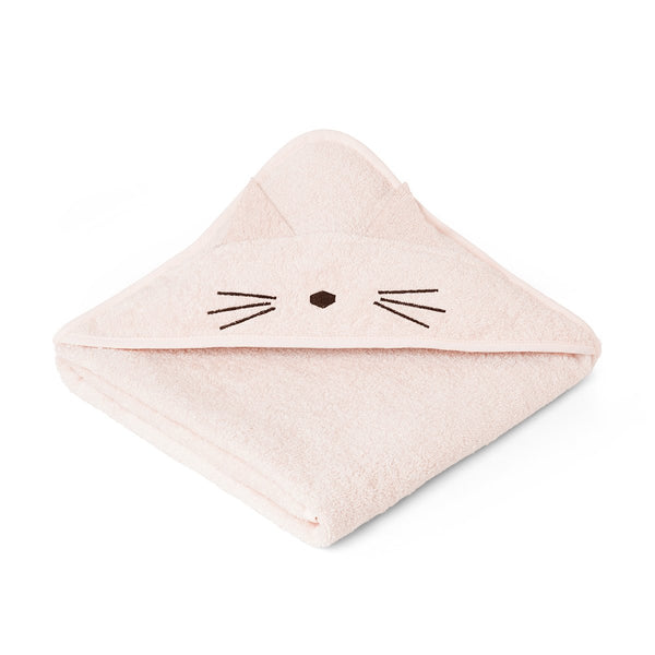 augusta hooded towel - cat sweet rose 貓咪公仔有機棉浴巾