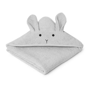 augusta hooded towel - rabbit dumbo grey 小兔公仔有機棉浴巾