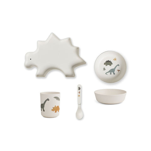 bamboo tableware box set - dino mix