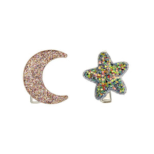 midnight glitter clips / a set of 2