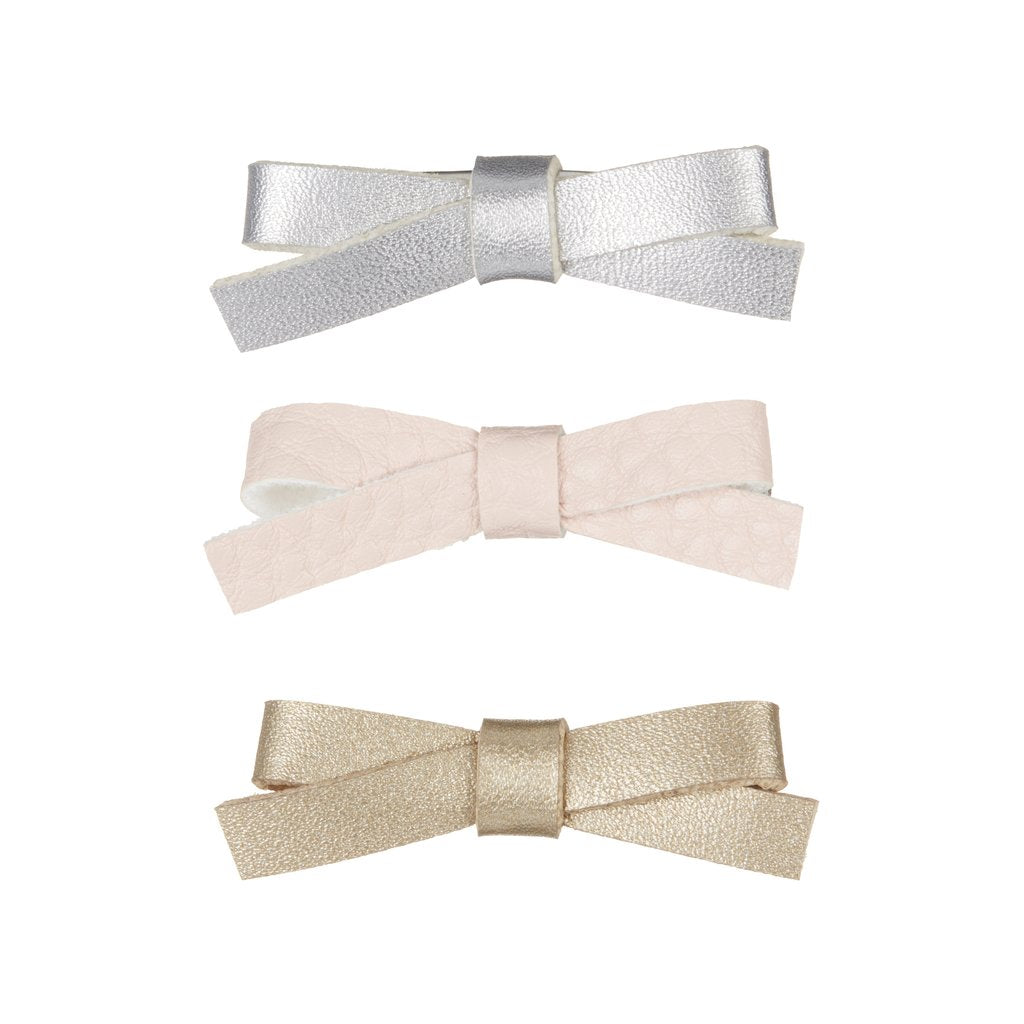 mini jeanie bow clips / a set of 3 迷你蝴蝶結髮夾 (3件裝)
