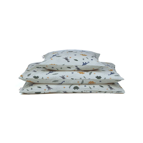 carmen bed linen baby - dino dove blue mix 鴿子藍恐龍嬰兒寢具套裝
