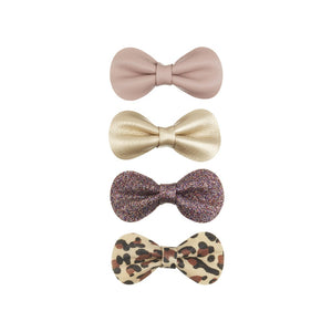 leopard gracie clips / a set of 4