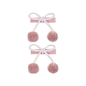 pom pom cherries clic clacs / a set of 2