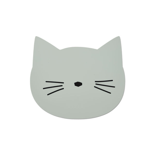 aura placemat - cat dusty mint 薄荷綠貓咪餐墊
