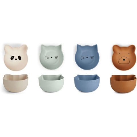 rex snack bowl 4 pack - blue mix 點心小碗 (4件裝)