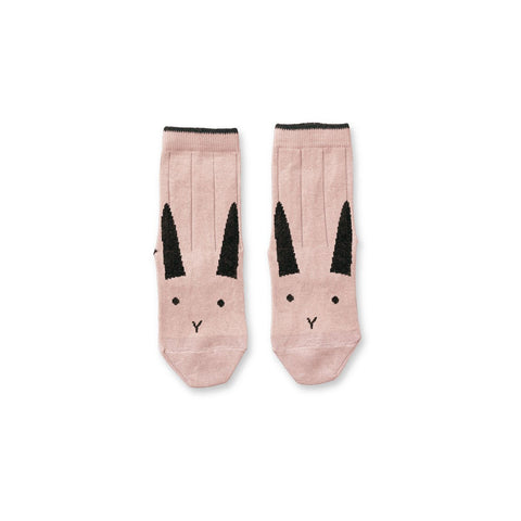 silas socks - rabbit rose