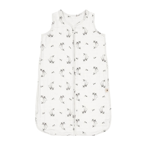 adèle summer sleeping bag fawn print - ecru 米色小鹿夏季睡袋