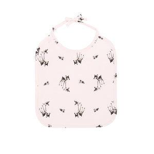 anna printed bib fawn - light pink