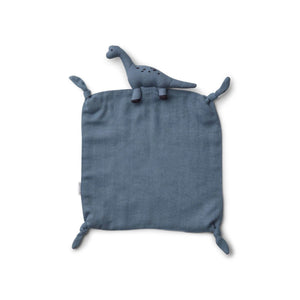 agnete cuddle cloth - dino blue wave 藍色恐龍安撫巾