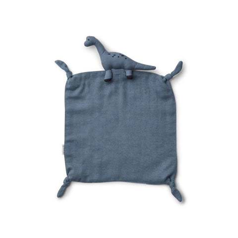 agnete cuddle cloth - dino blue wave