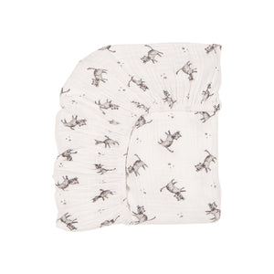 fitted sheet olivia cat - ecru