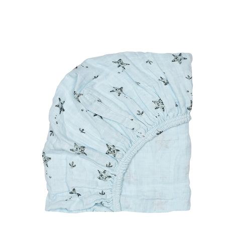 fitted sheet olivia starfish - iceberg blue