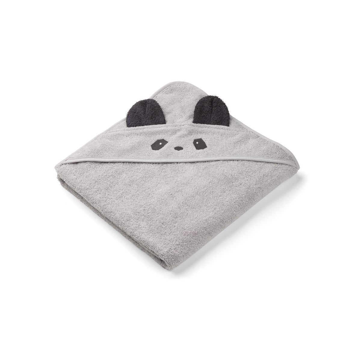 augusta hooded towel - panda dumbo grey 灰色熊貓公仔有機棉浴巾