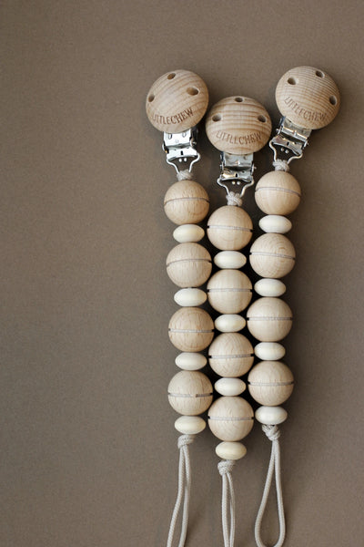 wooden pacifier holder - theo | handmade in the US