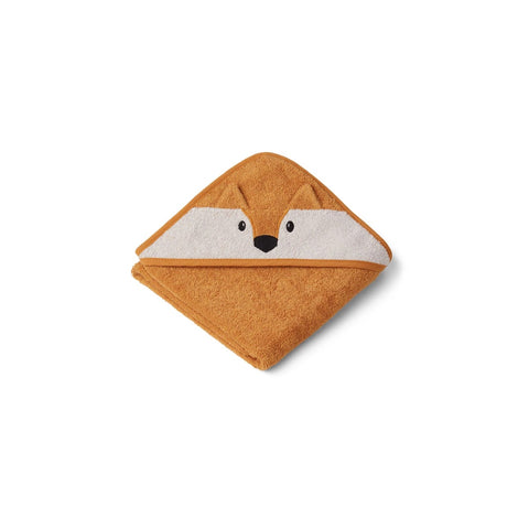 albert hooded towel - fox mustard