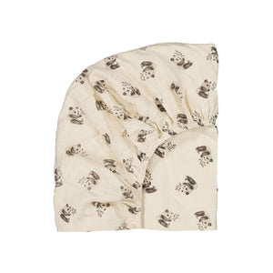 fitted sheet olivia panda - greige