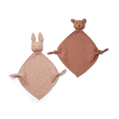 yoko mini cuddle cloth / 2pack - rose mix 玫瑰色迷你安撫巾(2件裝)