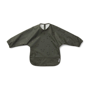 merle cape bib - panda hunter green