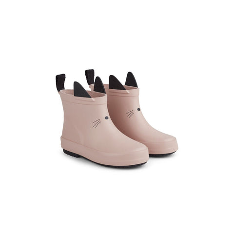(pre-order) tobi rain boot - cat rose 粉紅貓咪雨靴