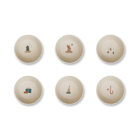 *LIMITED EDITION* greta bamboo bowls 6 pack - holiday mix 節日限定竹纖維餐碗(6件裝)