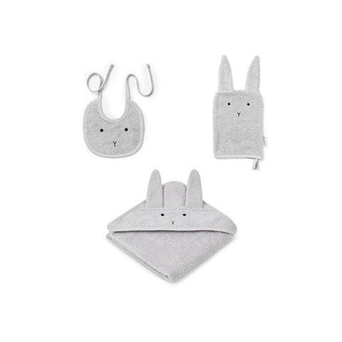 (pre-order) adele terry baby package - rabbit dumbo grey 灰色小兔有機棉毛巾套裝