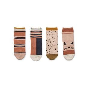 silas socks 4 pack - rose multi mix
