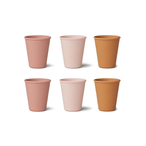gertrud bamboo cup / 6pack - rose multi mix