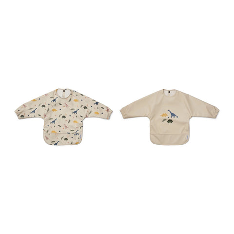 merle cape bib 2pack - dino mix