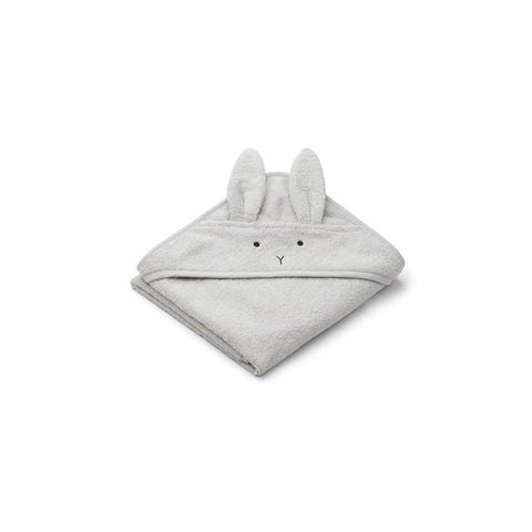 albert hooded baby towel - rabbit dumbo grey