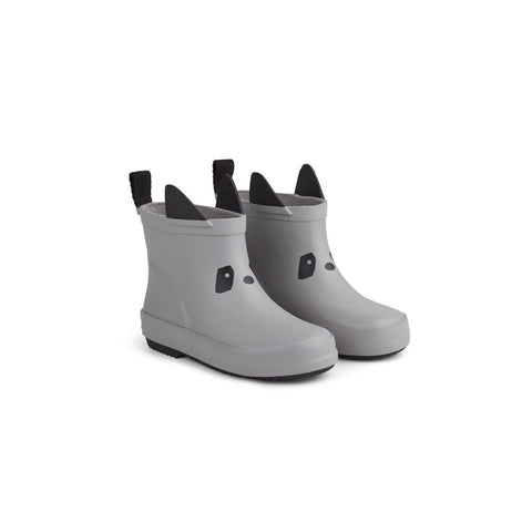 tobi rain boot - panda dumbo grey 灰色熊貓雨靴