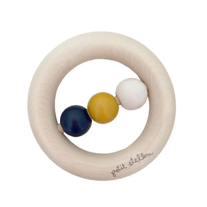 happy dots rattle-teething ring - gold 德國製磨牙木環 (金)