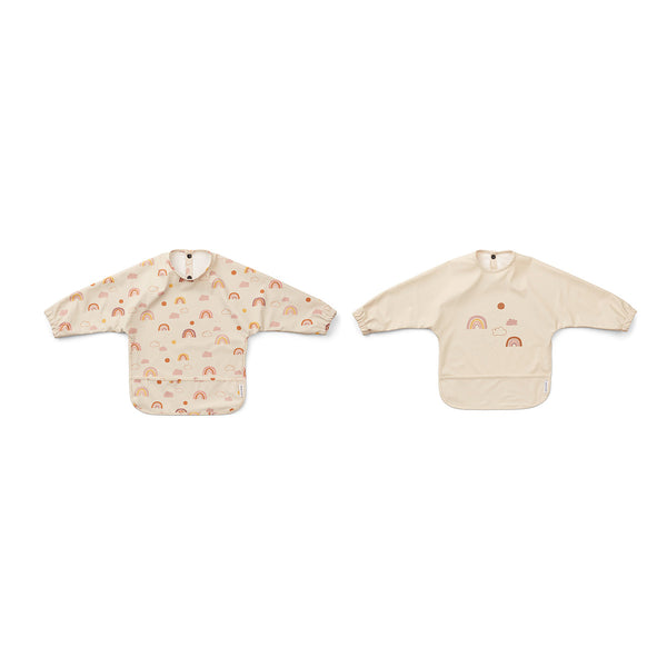 merle cape bib 2pack - rainbow love sandy
