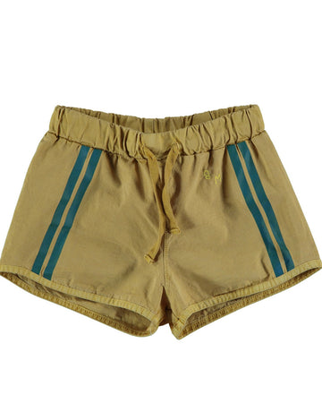 BONMOT - Lateral Stripes Short de Bain - Mustard