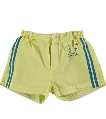 BONMOT ORGANIC - Button Side Stripes Short - Sunshine Yellow
